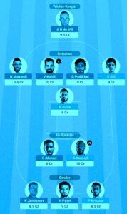 Kolkata Vs Bangalore Dream11 free Team , Mpl live